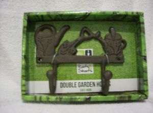 Tool hook/coat hook cast iron watering cans double hooked.